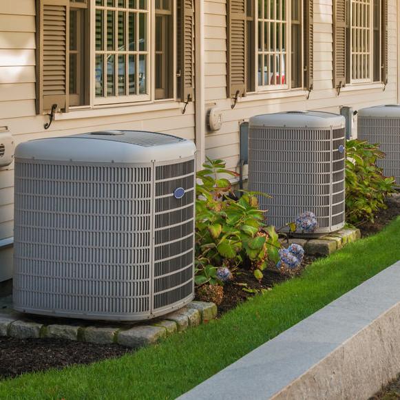 AC units in a condo complex.