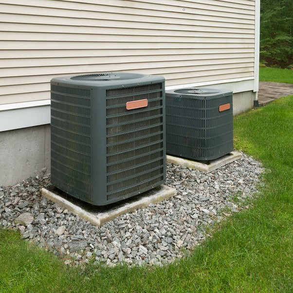 two exterior hvac systems