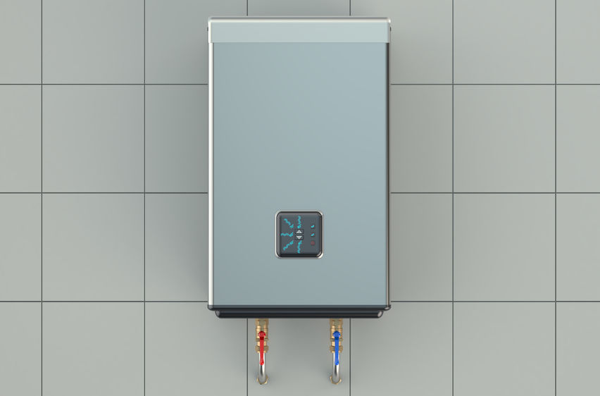 automatic electric boiler isolated on white background